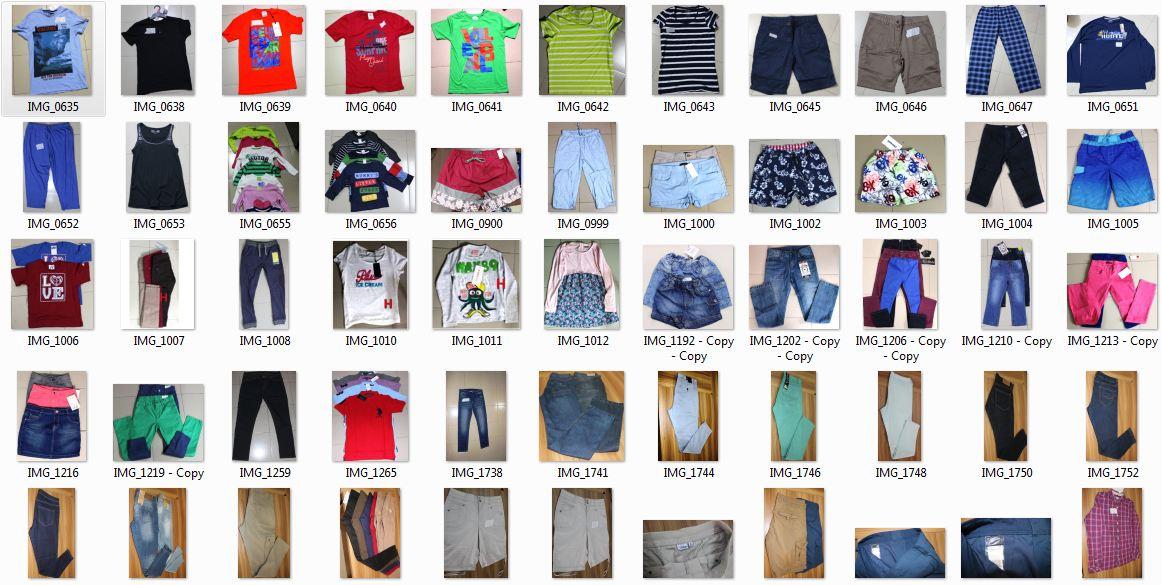 Branded Surplus or Stock lot Garments